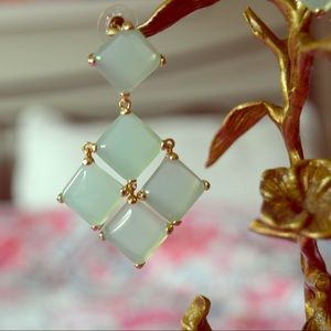 Kendra Scott Sea Green Earrings